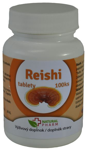 Reishi tablety Natural Pharm 100ks