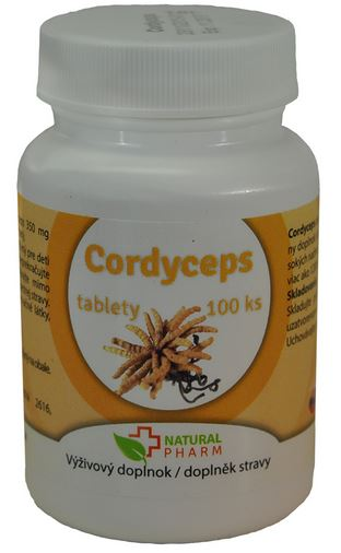 Cordyceps tablety Natural Pharm 100ks