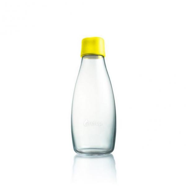 Sklenená fľaša ECO RETAP žltý uzáver 500ml  e77d49bfd14
